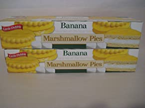 Little Debbie Banana Marshmallow Pies, 2- Boxes of 8 Each. 16 Total Cakes in All!
