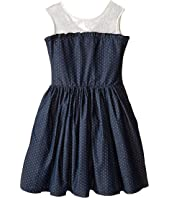 fiveloaves twofish - Miss Denim Dot Party Dress (Little Kids/Big Kids)