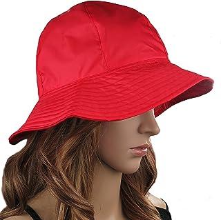 Debra Weitzner Rain Hat 2-in-1 Reversible Cloche Rain Bucket Hats Packable 4bd30a04d056