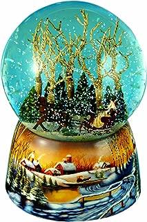 MusicBox Kingdom 46071 Snow Globe Sleigh Ride Music Box Playing