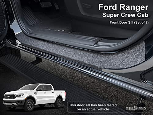 2021 Custom Fit Door Sill Entry Protector Kit for Ford Ranger Super Crew Cab CrewCab - 2019 2020 2021 high quality - Edge Guard Cover 2021 Anti Scratch Paint Protection Threshold Scuff Shield (Full Set) online