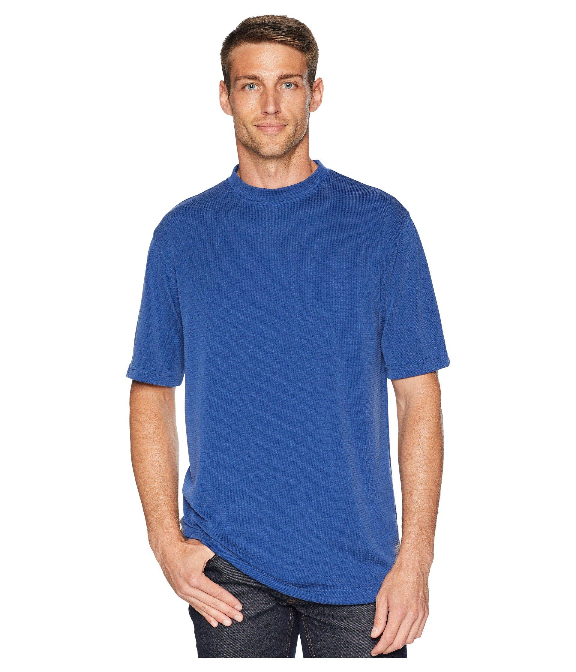 blend Textured Modal Crew shirt T Navy Bugatchi 0Eq1Rwn0