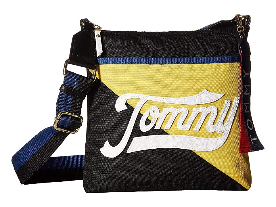 Tommy Hilfiger Daly Large North/South Crossbody (Black) Cross Body Handbags