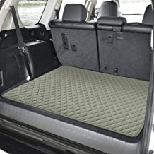 """FH Group F16501 Deluxe Heavy-Duty Faux Leather Multi-Purpose Cargo Liner, Diamond, 32"""" : 40"""" x 32"""", Gray Color- Fit Most Car, Truck, SUV, or Van"""