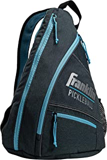Franklin Sports Pickleball Sling Bag – Official Pickleball Bag of The U.S. Open Pickleball Championships – Adjustable – Gray/Blue