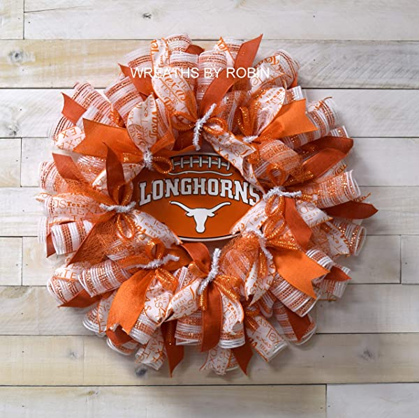 Texas Longhorns Wreath Texas Wreath Longhorns Decor