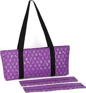 Purple & Silver Designer Mah Jongg Set Soft Carrying Case (Case Only)