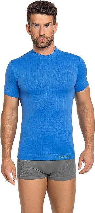 Ladeheid Camiseta Mangas Cortas Ropa Interior T/érmica de Compresi/ón Ropa Deportiva Hombre 05 1