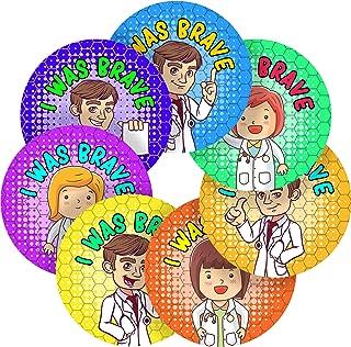 I was Brave Cartoon Doctor Reward Sticker Labels, 6 Stickers @ 3.7