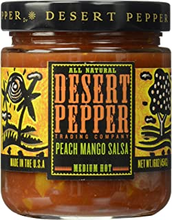 Desert Pepper Peach Mango Salsa, Medium Hot, 16-Ounce