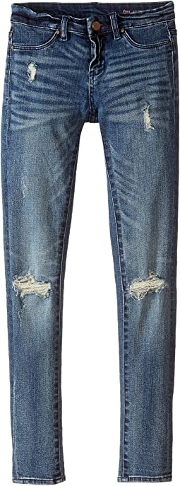 Denim Distressed Skinny in the Hard Way (Big Kids)