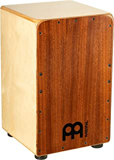 Meinl Cajon Box Drum with Internal Strings for Snare Effect  - NOT MADE IN CHINA - Mahogany Frontplate / Baltic Birch Body, Woodcraft Professional, 2-YEAR WARRANTY(WCP100MH)