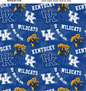 University of Kentucky Cotton Fabric with New Tone ON Tone Design Newest Pattern
