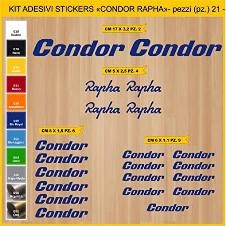 Condor Pima Bicycle Sticker Lab Kit Stickers 21 Stickers Bici Bike Cycle Option Cod 0816 Sport Freizeit