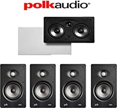 Polk Audio V65 Vanishing Series 5.0 High Performance in-Wall Home Theater System