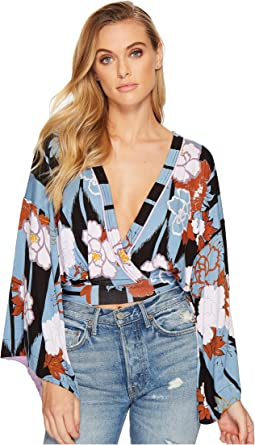Free People - Thats A Wrap Top Printed