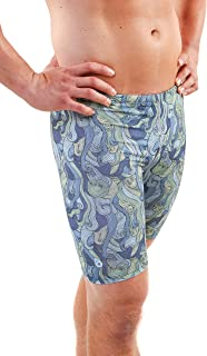 Original Watermen Mens Jammers Compression Speed Swimsuit Liners, Chlorine Resistant, Double Dye Anti Rash Fade Flexible