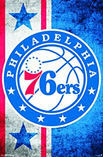 "Trends International Philadelphia 76ers Logo Wall Poster 22.375"" x 34"""