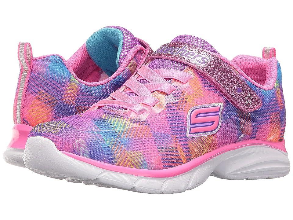 SKECHERS KIDS Spirit Sprintz Rainbow Razzles (Little Kid/Big Kid) (Neon Pink/Multi) Girl