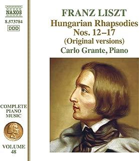 Liszt Complete Piano Music, Vol. 48: Hungarian Rhapsodies, Nos. 12-17 (Original Versions)