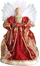 Best angel tree topper red and gold Reviews