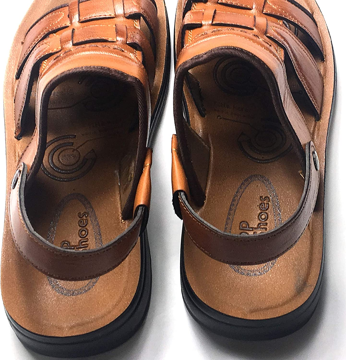 Mens Open Toe Casual Leather Comfort Shoes Sandals