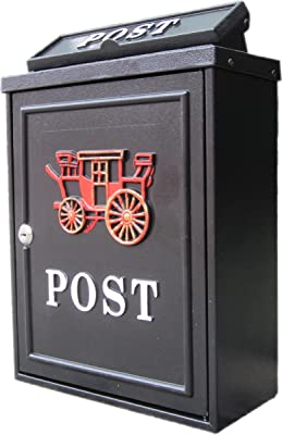 CJH Stainless Steel Letter Box Wall Letter Box General Manager Mailbox Outdoor Lockbox Report Box Creative Time Box
