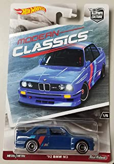 HOT WHEELS CAR CULTURE MODERN CLASSICS BLUE '92 BMW M3 WITH REAL RIDER TIRES
