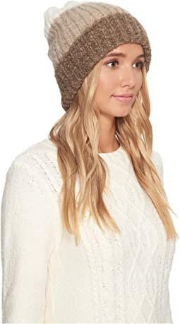 Three Color Lofty Pom Hat