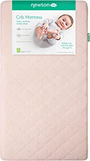 Newton Baby Crib Mattress and Toddler Bed | 100% Breathable Proven to Reduce Suffocation Risk, 100% Washable, Hypoallergenic, Non-Toxic, Better Than Organic - Sunrise Pink