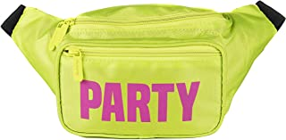 SoJourner Bum Bag Fanny Pack Neon Party - Yellow | for women, men and kids | cute fits small medium large
