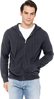 State Cashmere Men's Full Zip Up Hoodie 100% Pure Cashmere Long Sleeve Fashion Sweatshirt with Pockets
