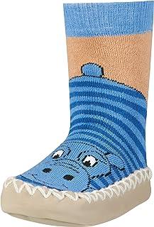 Playshoes, Zapatillas con Suela Antideslizante Hippopotamus Pantuflas Unisex niños