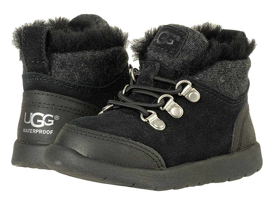 UGG Kids Obie Waterproof (Toddler/Little Kid) (Black) Kid