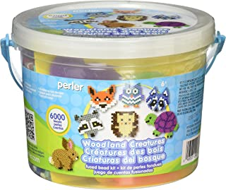 Perler Woodland Creatures Fuse Bead Bucket Craft Activity Kit, 6006 pcs