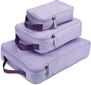 E-Tree 3 Piece Packing Travel Organizer Cubes Set, Travel Bags Packing Cubes Suitcase Luggage Bags (XS, S, M)
