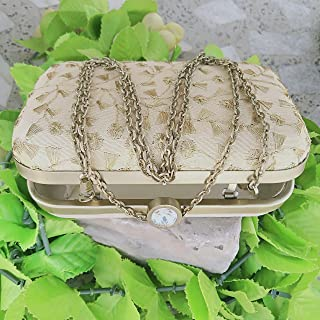 Jewelry Carry Box, Women's Designer Handbags Tote Purse and Fashion Top Handle Bags (Ivory/Pink), Clutch Style Hand Bag, Bag for Precious Things Storage