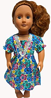 Doll Clothes Superstore Bright Colored Flowers Nightgown Fits 18 Inch Girl Dolls Like American Girl