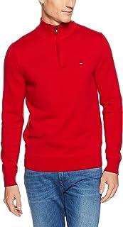 Tommy Hilfiger Men's Cotton Zip Mock Neck Sweater