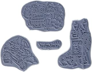 Art Impressions Try'folds Cling Rubber Stamp, 9 by 4.5-Inch, Flower Shop
