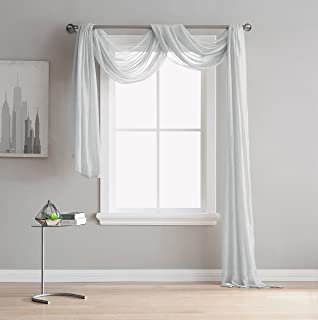 LinenZone Karina - Semi-Sheer Window Scarf (54