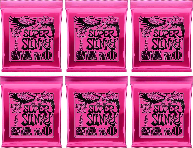 Ernie Ball Super Slinky镍缠绕套,.009 - .042,(6包)