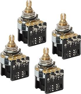 CTS Push-pull Pots, DPDT, Split shaft, 500K-ohm (CTS #450S 3910) - 4 Pack