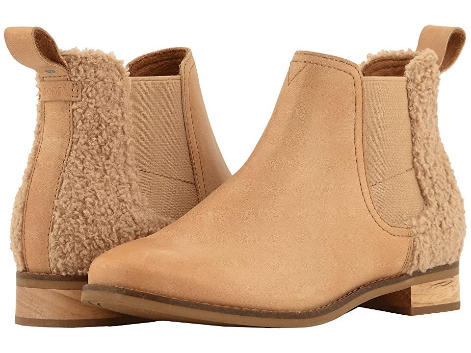 TOMS Ella (Honey Leather/Faux Shearling) Women