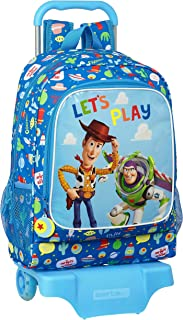 Mochila Infantil de Toy Story Let's Play, Modelo 522 con Carro 905, 320x420x140mm