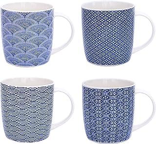 Flamingo - Juego de 4 Tazas de café con asa (300 ml, cerámica), cerámica, Diseño 4, 300 ml