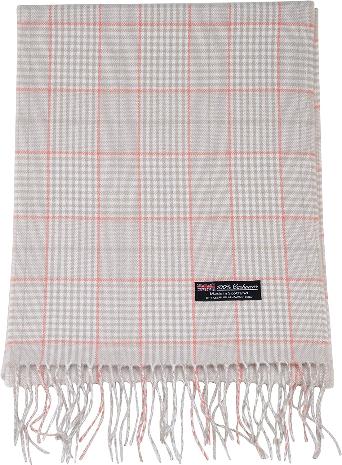 2 PLY 100% Cashmere Scarf Elegant Collection Wo Trust El Paso Mall Made Scotland in