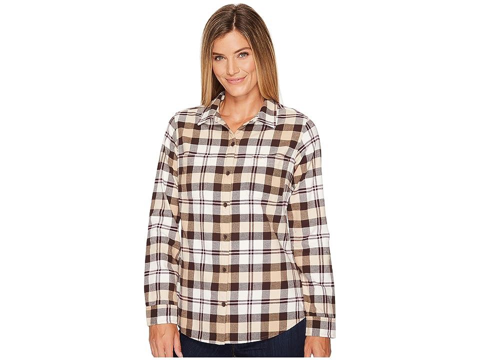 Royal Robbins Lieback Flannel Long Sleeve (Creme) Women