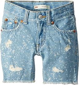 Levi's® Kids 511 Slim Fit Destroyed Denim Cut Off Shorts (Toddler)