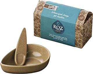 Iam By Nature Roz Skincare Mixing Bowl and Spoon Set DIY Clay Face mask Mixing Tool Kit BPA Free Eco Friendly Biodegradable Made from Natural Rice Husks
